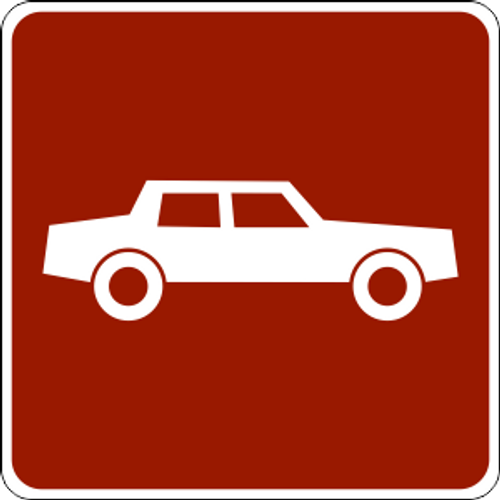 Automobile Icon Sign
