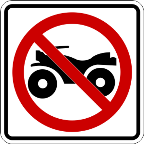 No ATVs Icon Sign