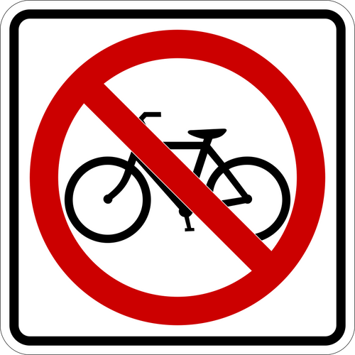 No Bicycles Icon Sign