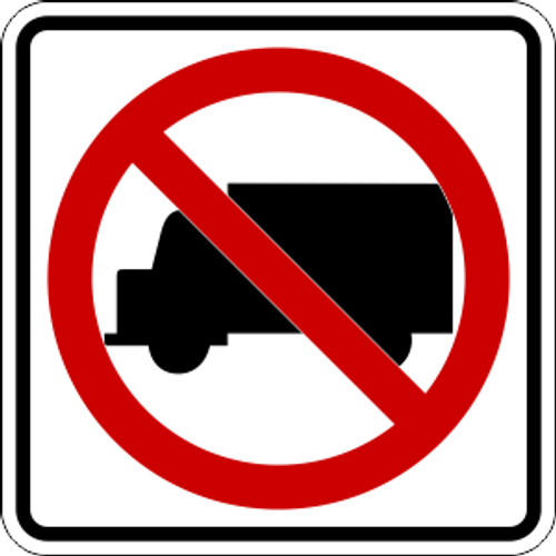 No Trucks Icon Sign