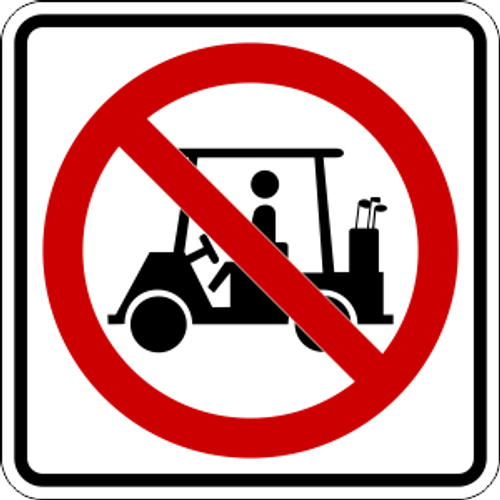 No Golf Carts Icon Sign
