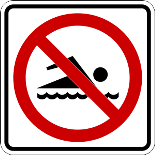 No Swimming Icon Sign