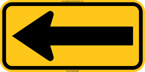 Directional Arrow Trail Sign