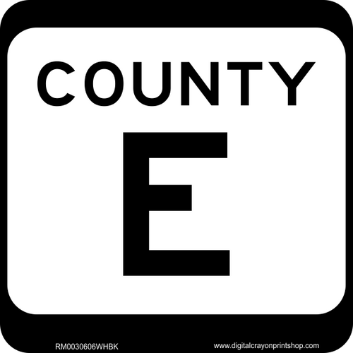 County Highway Marker Route Sign