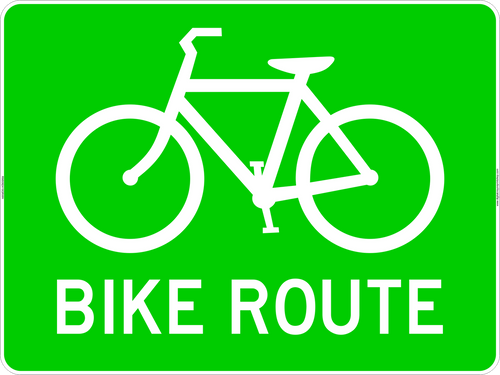 Bike route Marker Sign