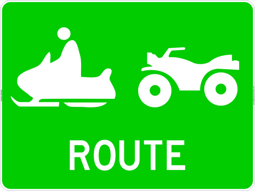 ATV / Snowmobile Icons Route Marker Sign