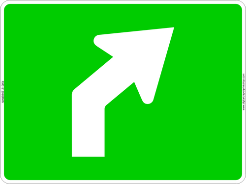 Right Curve Arrow Route Marker Sign