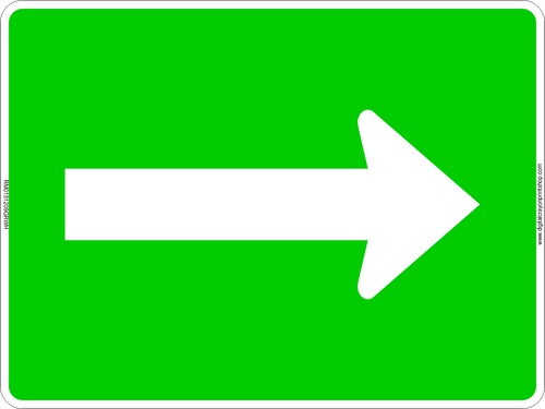 Single Arrow Left or Right Route Marker Sign