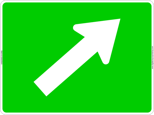 Gradual Right Arrow Route Marker Sign