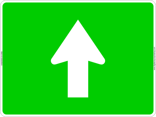 Straight Ahead Arrow Route Marker