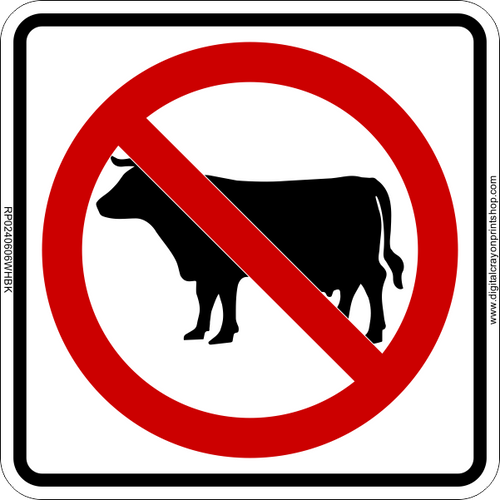 No Cows Icon Sign