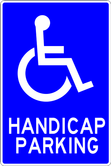 Handicap Parking parking lot sign
