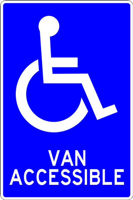 Van Accessible Handicap Parking parking lot sign