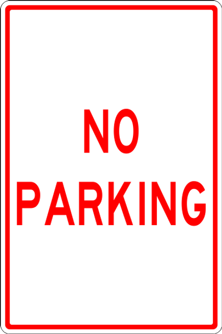 No Parking parking lot sign