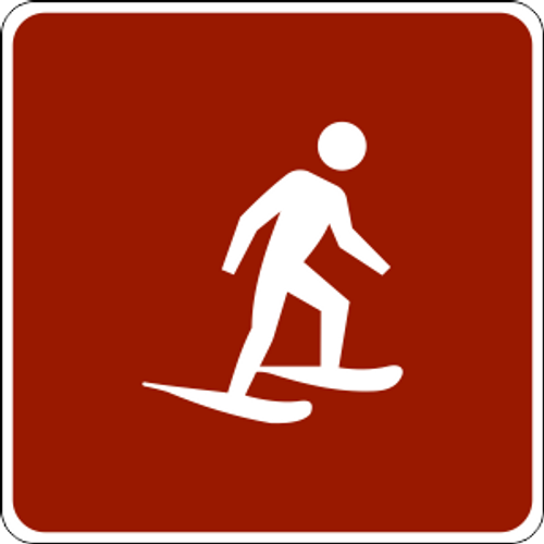"Snowshoe Symbol Marker Trail Sign 6"" x 6"""