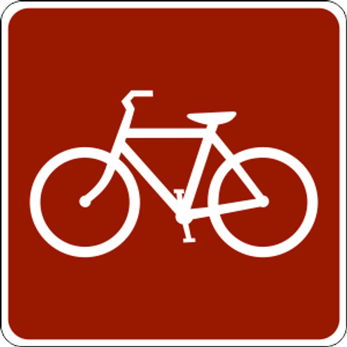 "Bicycle Symbol Marker Trail Sign 6"" x 6"""