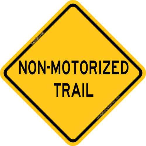 Non-Motorized Trail Warning Trail Sign