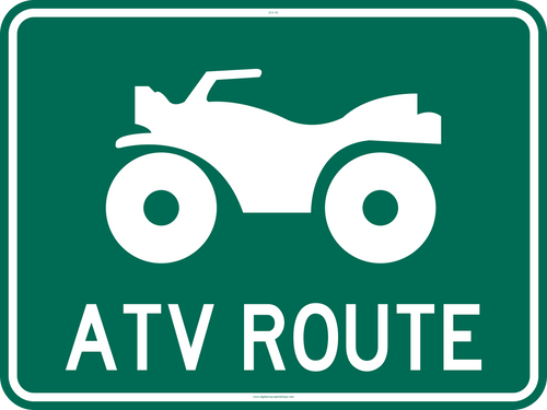ATV / UTV Route Sign