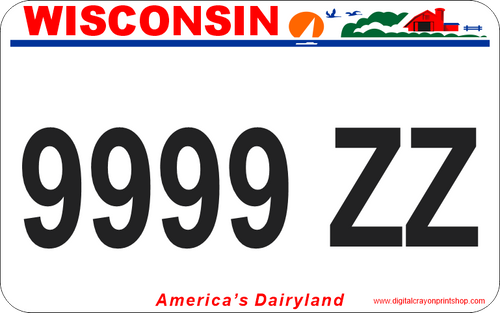 Wisconsin ATV / UTV Custom License Plate