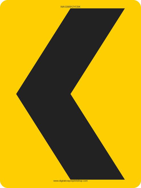 Chevron 9x12 Warning Trail Sign