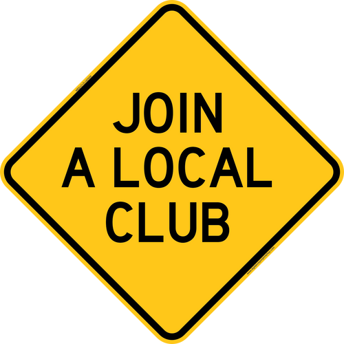 Join A Local Club Trail Sign