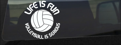 Volleyball is Serious Decal