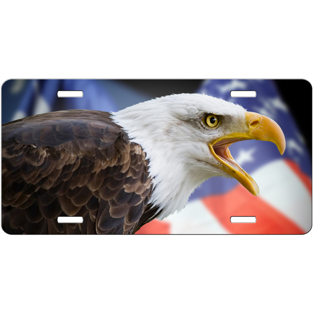 American Flag Eagle car tag license plate