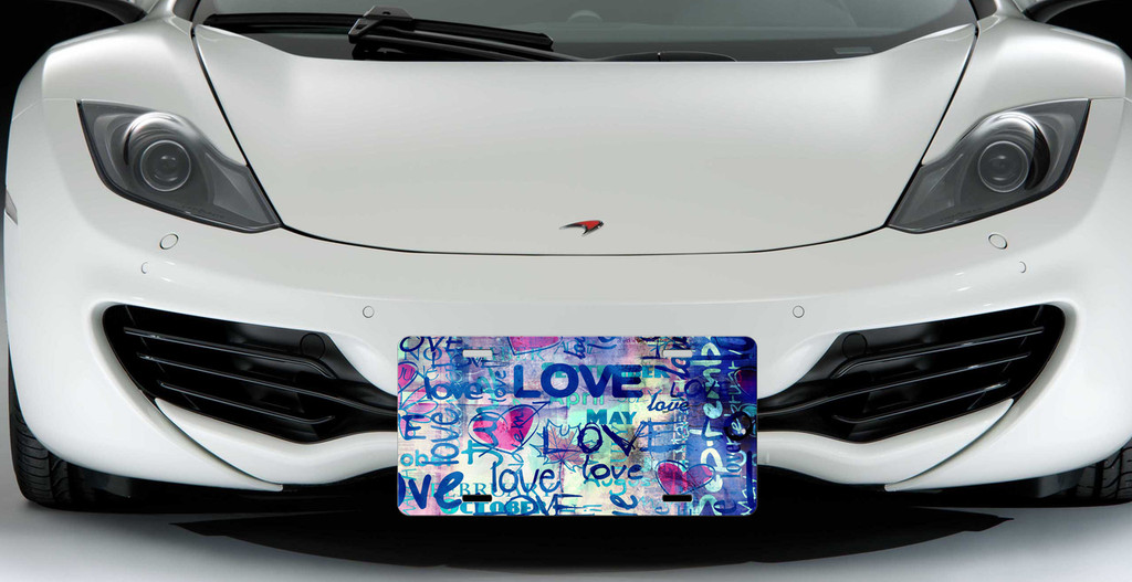 Love Graffiti Custom License Plate