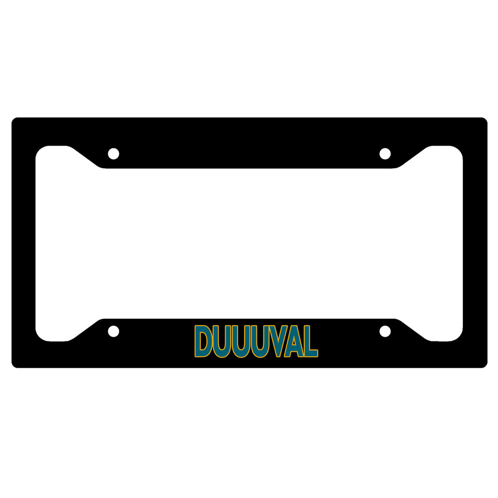 Duval Jacksonville Jaguars Duuuval Fan Car Tag License Plate Frame Vanity Plate