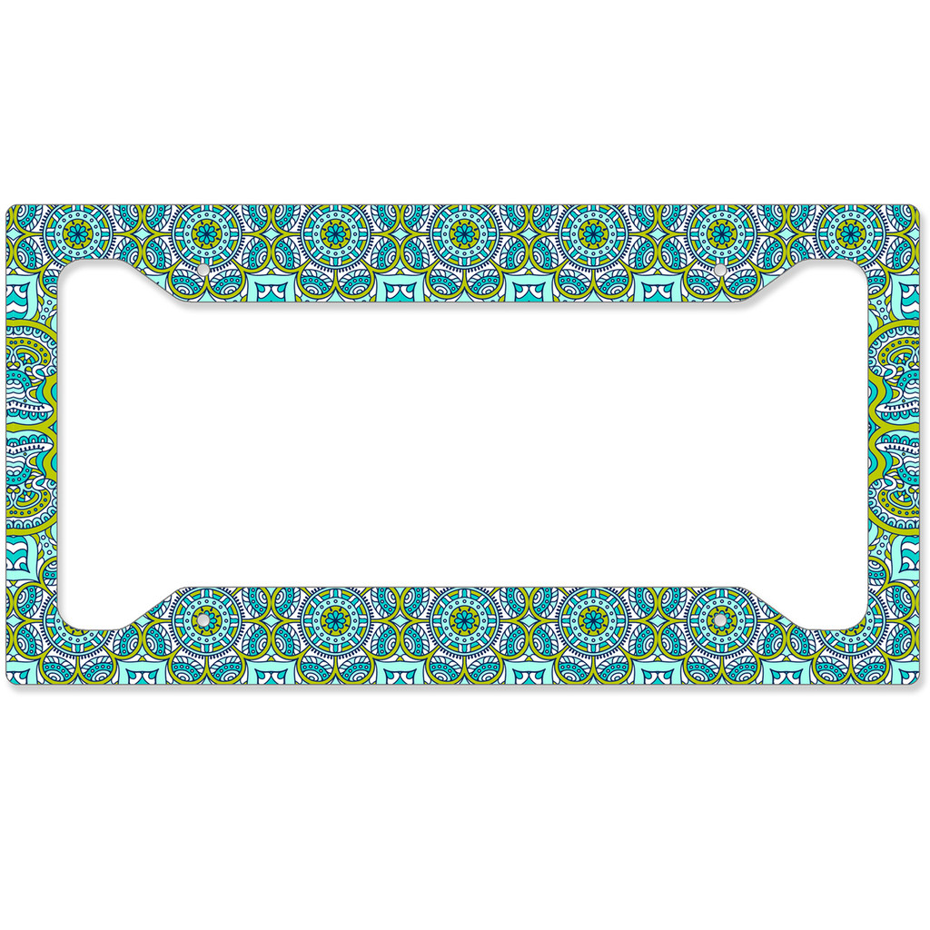 Spring Boho License Plate Frame, Car Tag Frame, License Plate Cover