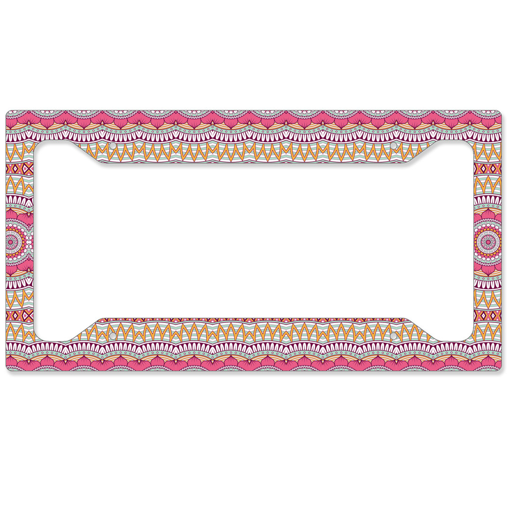 Pink Hippy Auto License Plate Frame, Car Tag Frame, License Plate Cover