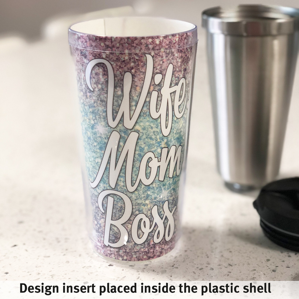 Personalized Tumbler - Floral Roses - Monogrammed - Stainless Steel