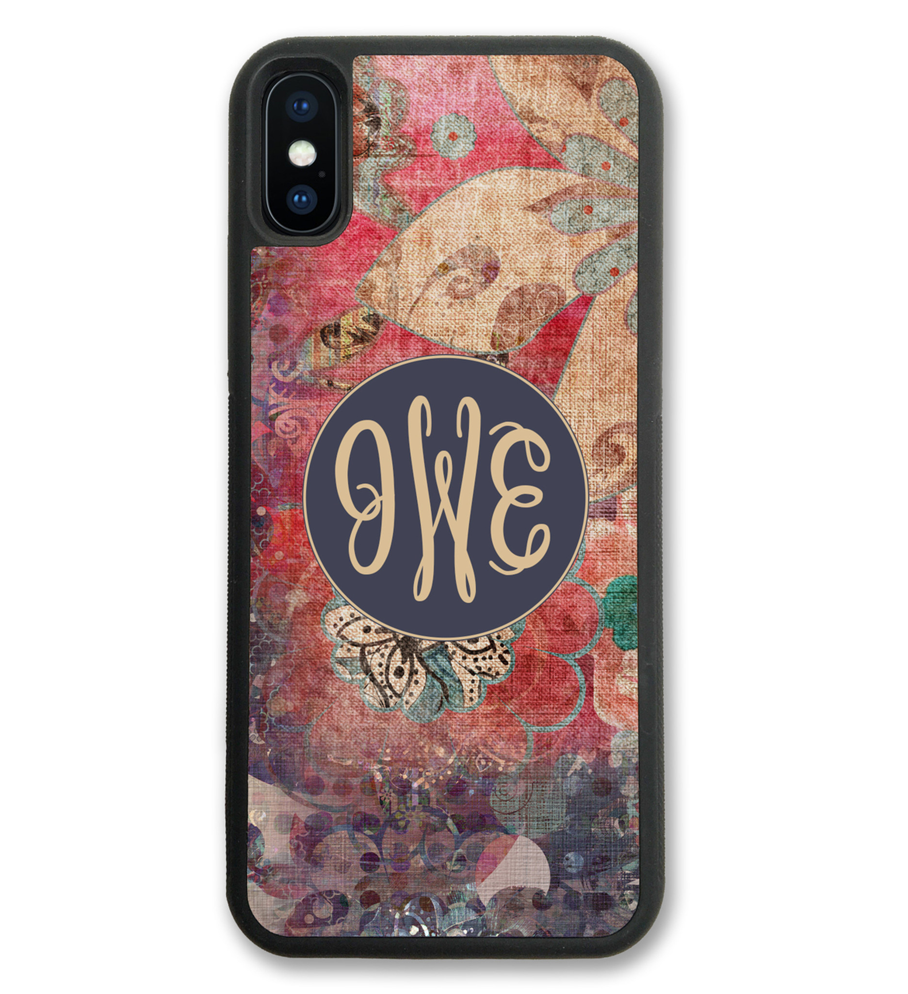 Monogrammed Iphone Case Fall Boho Floral