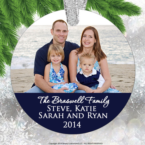 Personalized Family Photo Christmas Ornament Keepsake - Picture Ornament - Personalized Gift