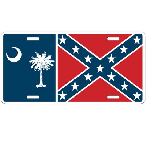 South Carolina Battle License Plate - Confederate Rebel Car Tag