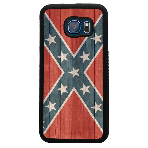 Confederate Flag Samsung Galaxy Case Distressed Wood - Rebel Flag - Stars and Bars