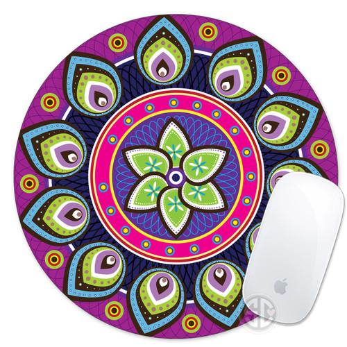 Colorful Hipster Mandala Mouse Pad