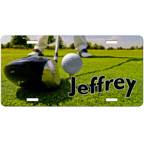 Golf License Plate, Golf Gifts for Men