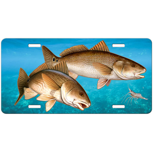 Redfish License Plate, Fishing Gifts for Men, Fisherman Gift, Blue