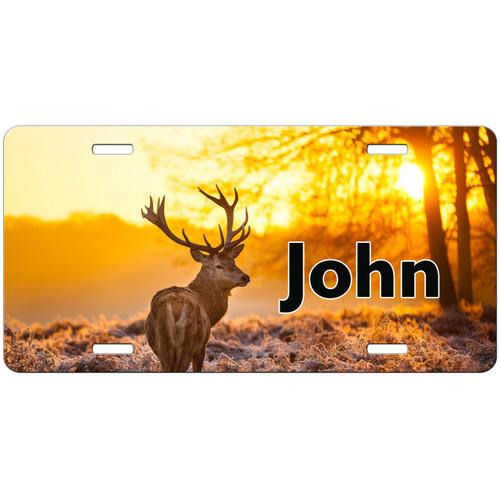 Hunting License Plate, Deer License Plate, Deer Car Tag, Personalized Hunting