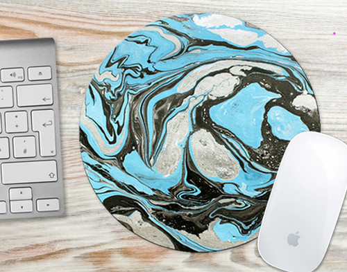Mouse Pad Turquoise Marble Mousepad