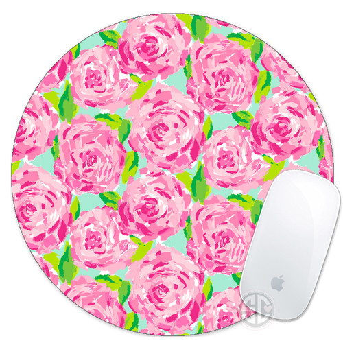 Mouse Pad Pink Roses Mousepad