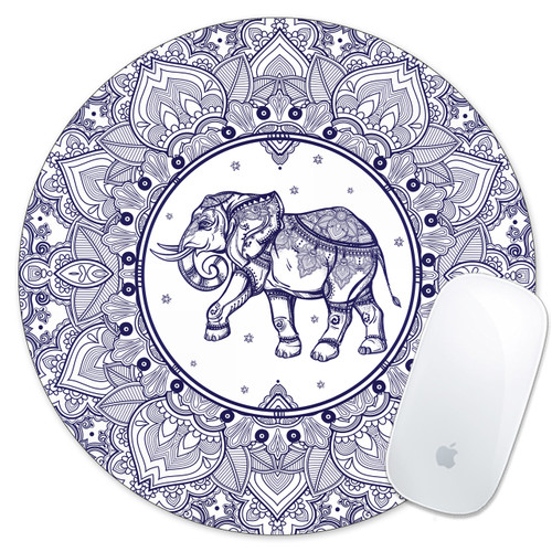 tribal elephant mouse pad mousepad mousemat gift idea