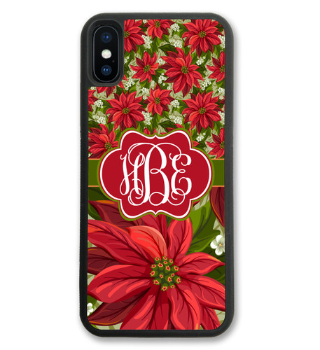 Poinsetta Christmas iPhone X Case, iPhone 10 Case, iPhone 8 Case, iPhone 8 Plus Case, iPhone 7 Plus Case, iPhone 7 Case, iPhone 6 Case, iPhone 6S Case, iPhone 6 Plus Case, iPhone 6S Plus Case, iPhone 5 Case, iPhone 5S Case, iPhone SE Case