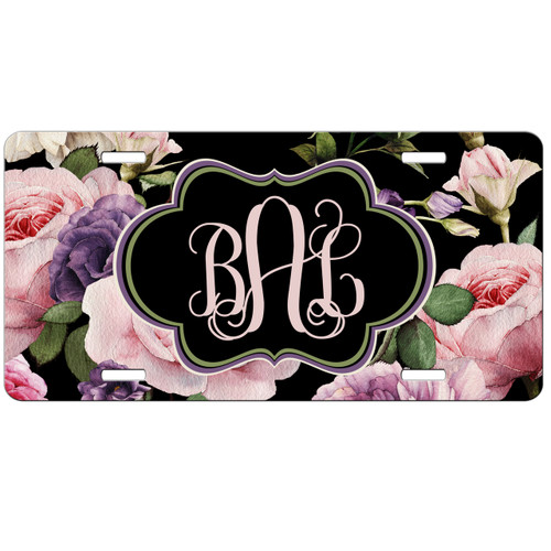 Roses Front License Plate, Custom License Plate, Personalized License Plate