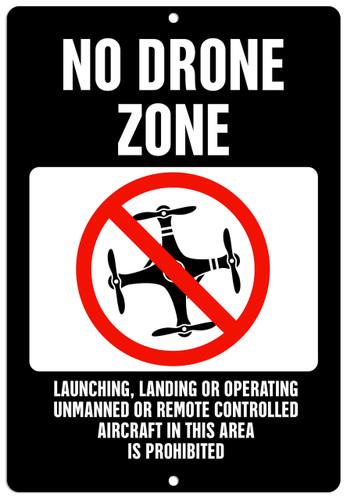 No Drone Sign Aluminum Indoor Outdoor Rust Free Aluminum