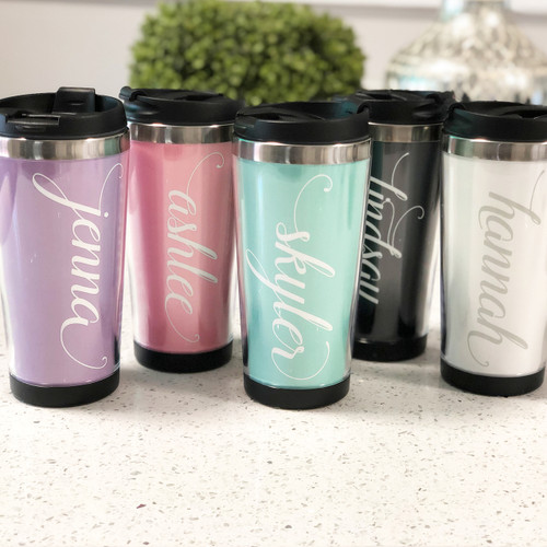Personalized Tumbler - Bridesmaid Gift - Wedding Tumblers - Bachelorette Favors - Stainless Steel Tumbler