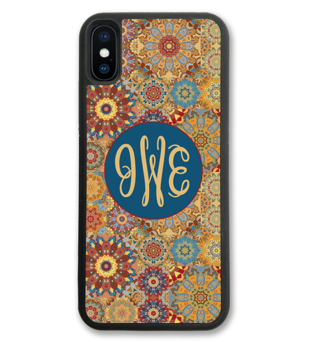 Monogrammed iPhone Case - Fall Floral Flowers