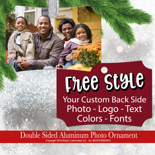Custom Photo Ornament Picture Personalized - Double Sided Aluminum
