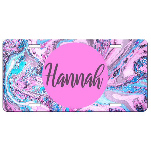 Pastel Pinks Marble Front License Plate, Custom License Plate, Personalized License Plate